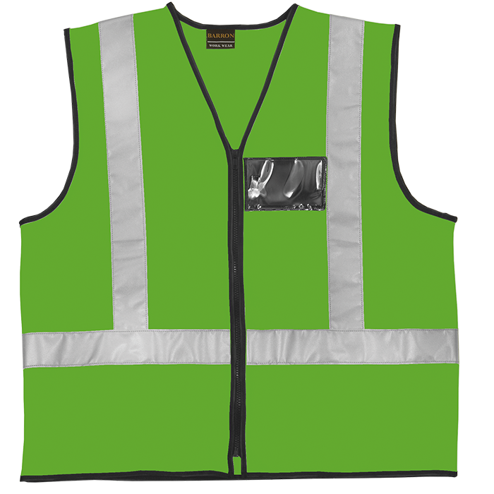 GREEN REFLECTIVE VEST - FIRST AID