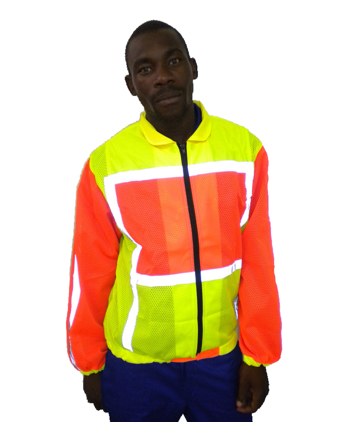 2 Tone Long Sleeve Reflective Vest Simply Workwear
