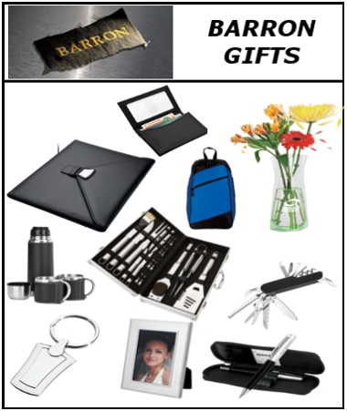 Barron Gifts, Corporate Gifts, Promtional Gifts, Branded gifts