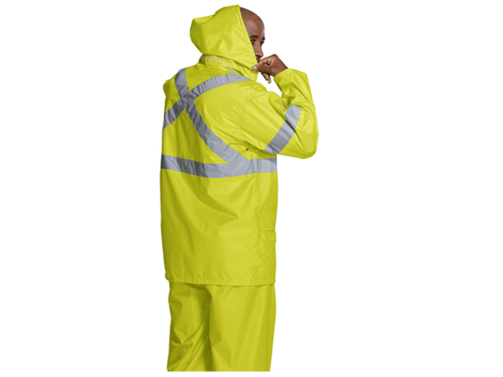 2PC HI VIS + REFLECTIVE RAINSUIT